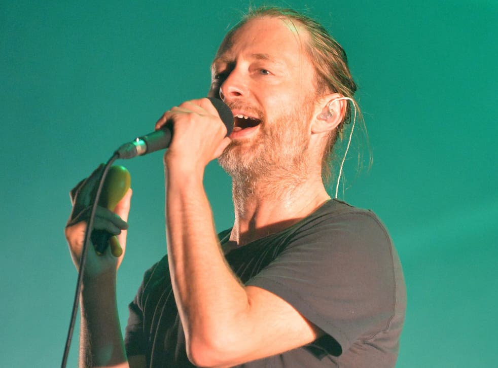 Beach boy: Thom Yorke rocks a 'surfer dude' look, to front new band Atoms for Peace