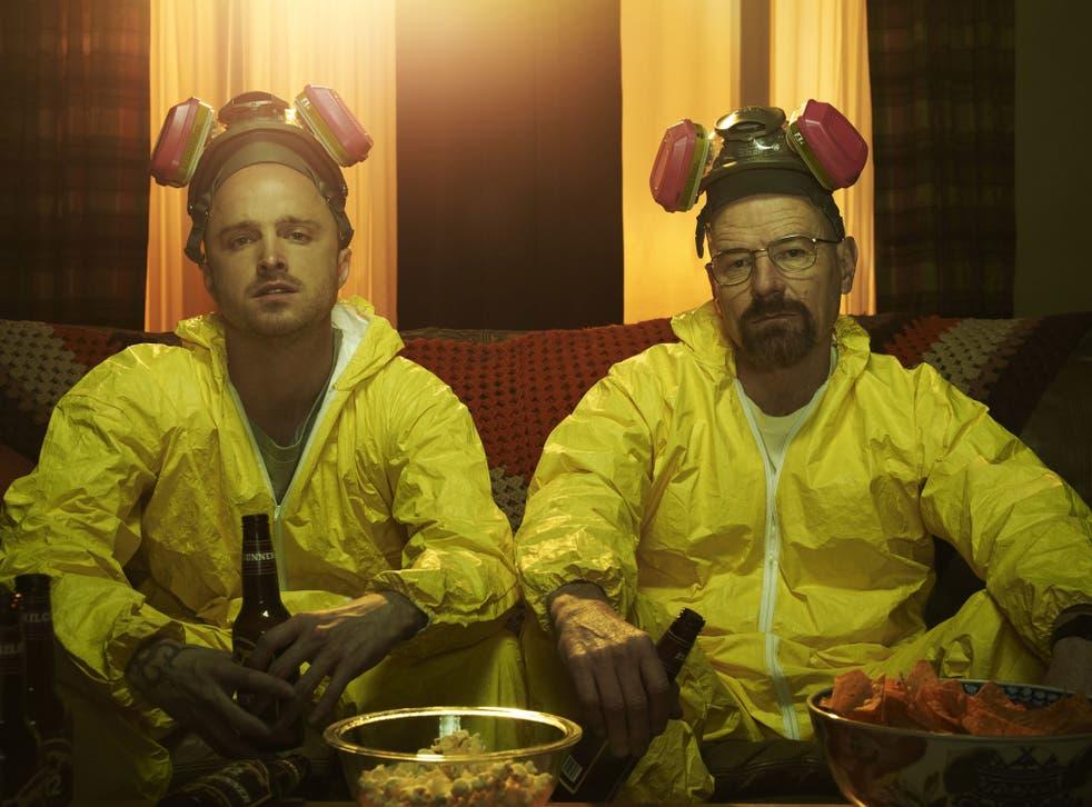 Bryan Cranston and Aaron Paul as drug-makers in Breaking Bad