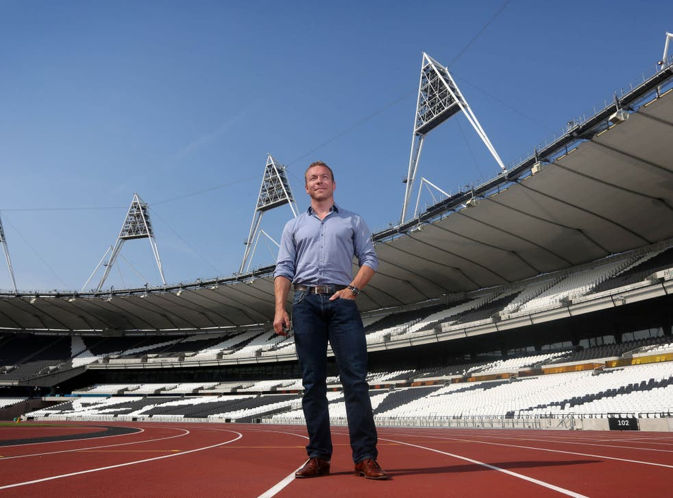 Sir Chris Hoy visiting the Olympic Stadium for the first time since London 2012