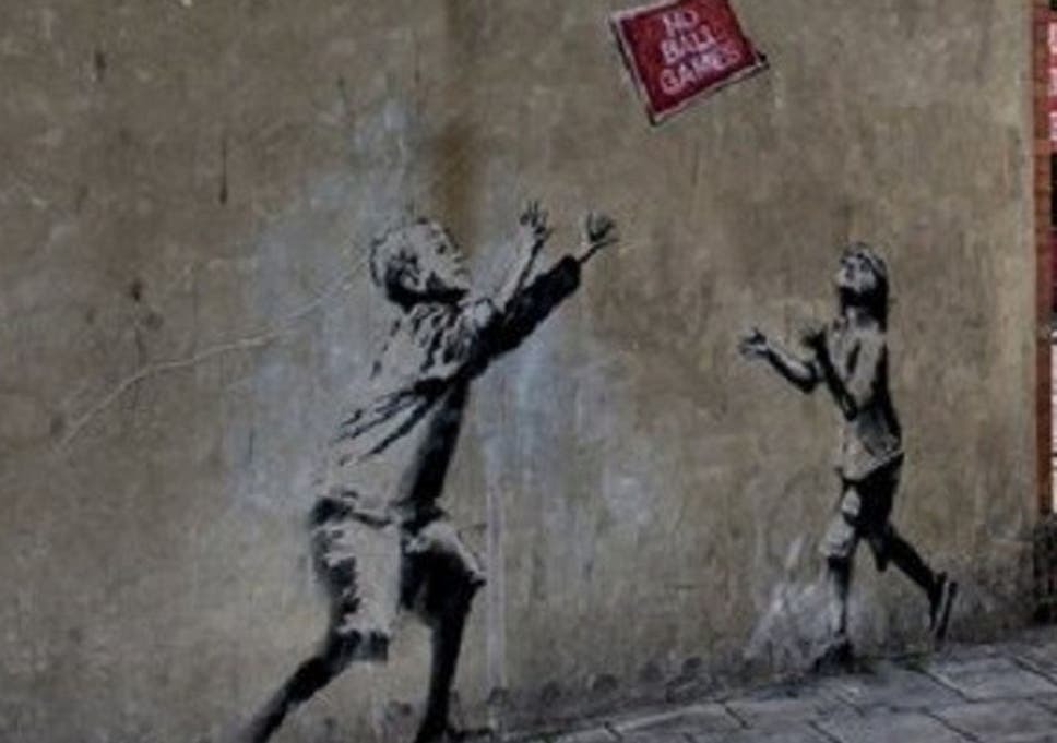 No Ball Games: Removing Banksy's work from the street