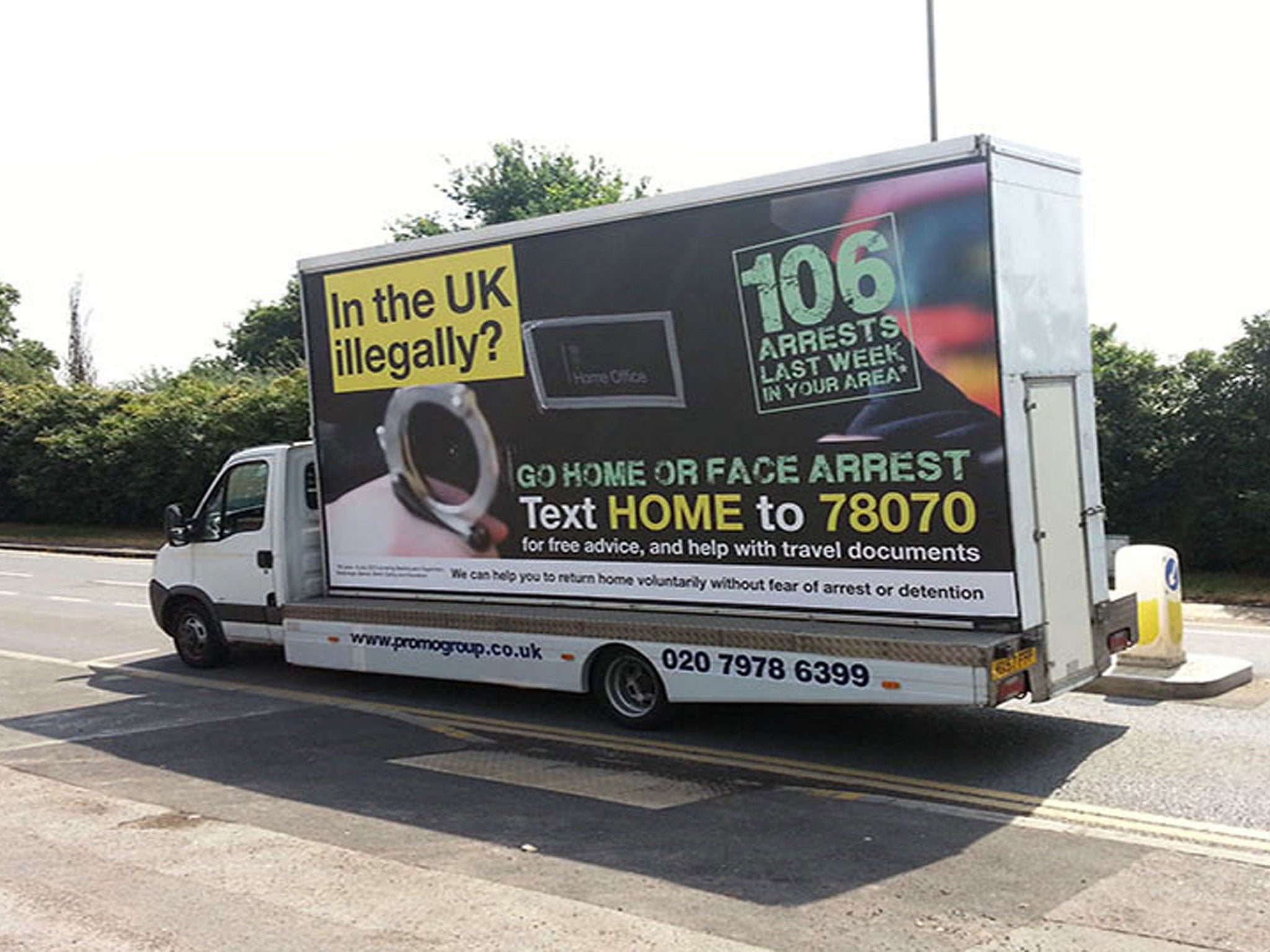 Theresa May has finally decided telling people to 'go home' is unacceptable. Is irony officially dead?