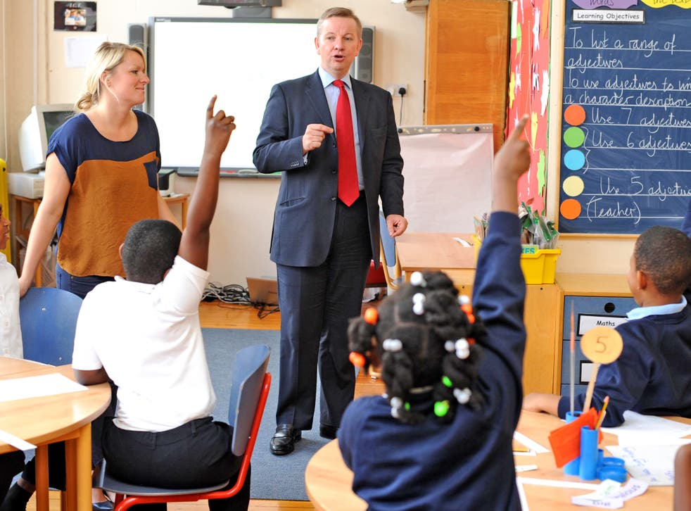 Michael Gove visits Durand Academy School in Stockwell in 2011