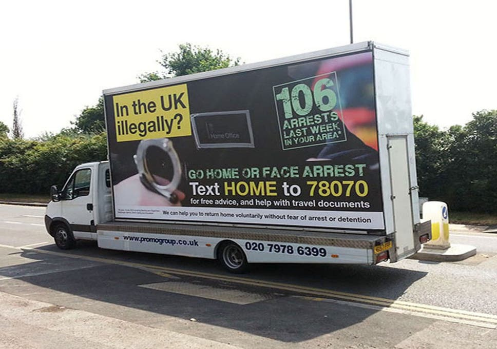 34468ec9968113 Home Office anti-immigration  go home  vans banned by advertising watchdog