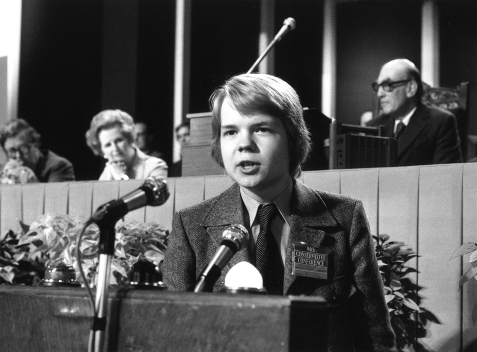 16-year-old William Hague rails against the evils of socialism in his famous speech to the Conservative Party conference in 1977