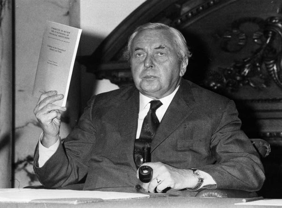 King of quips: Former prime minister Harold Wilson