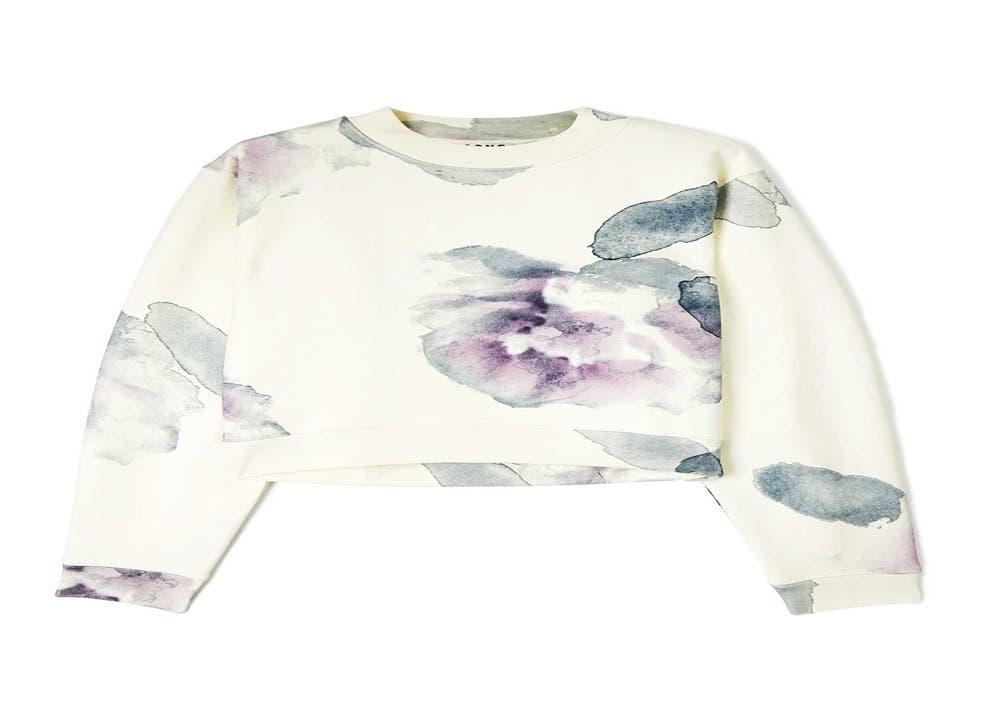 Acne's floral 'Bird' sweatshirt, £180, farfetch.com