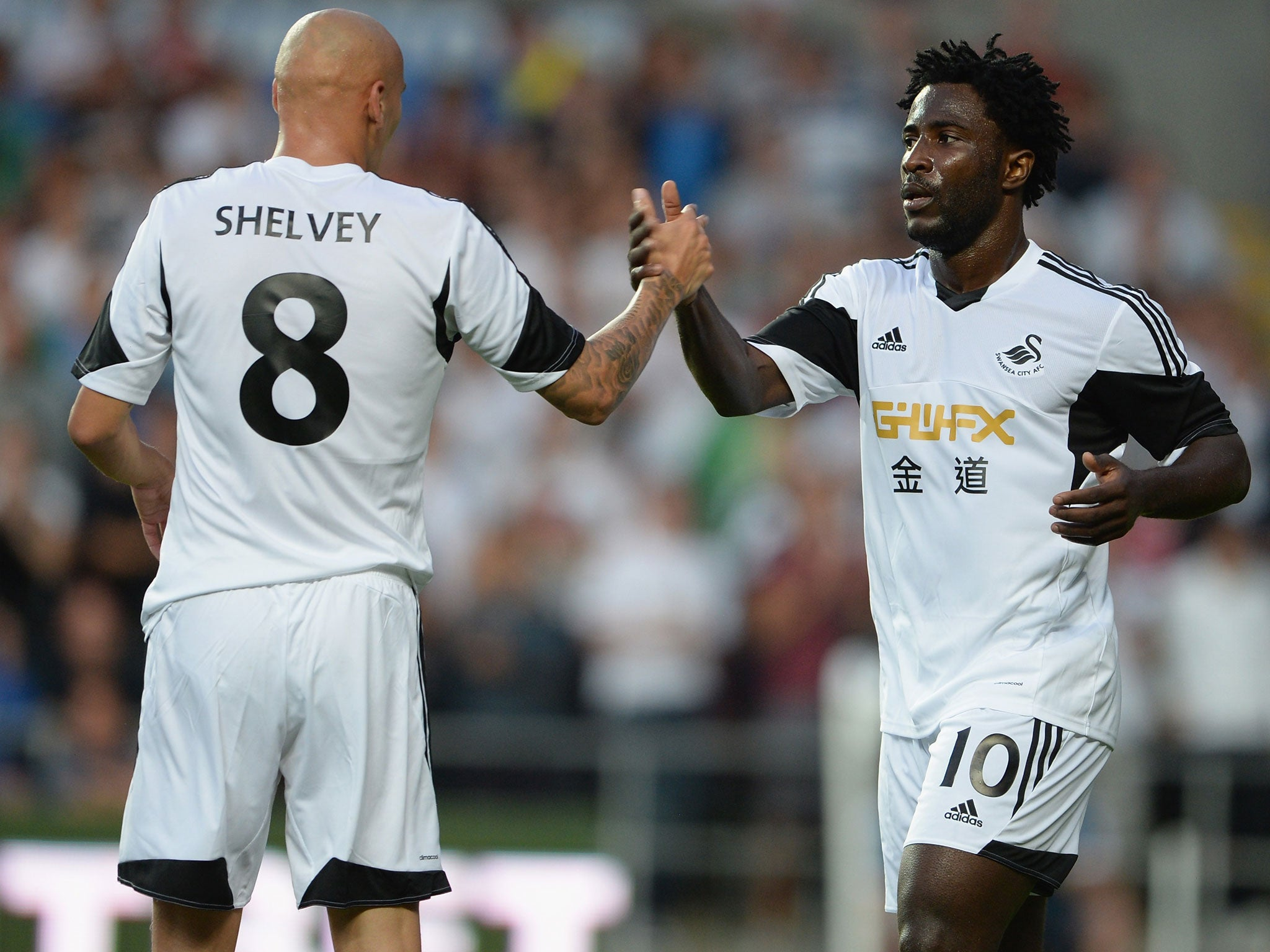 Swansea City 4 Malmo 0 match report Wilfried Bony quick to find