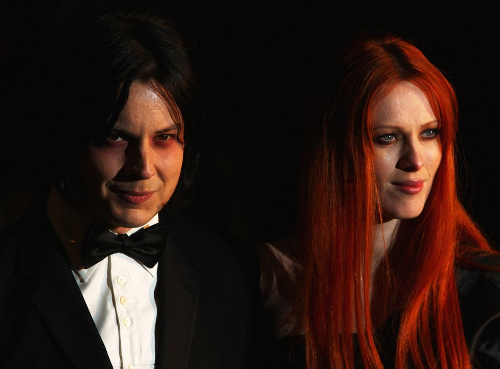 Jack White and Karen Elson pictured together at the Quantum of Solace premiere in 2008.