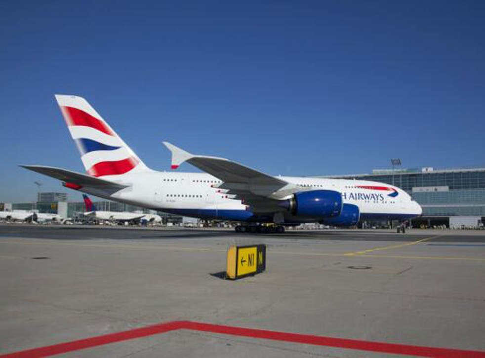 British Airways flew its new A380 aircraft for the first time to Frankfurt as part of a test flight