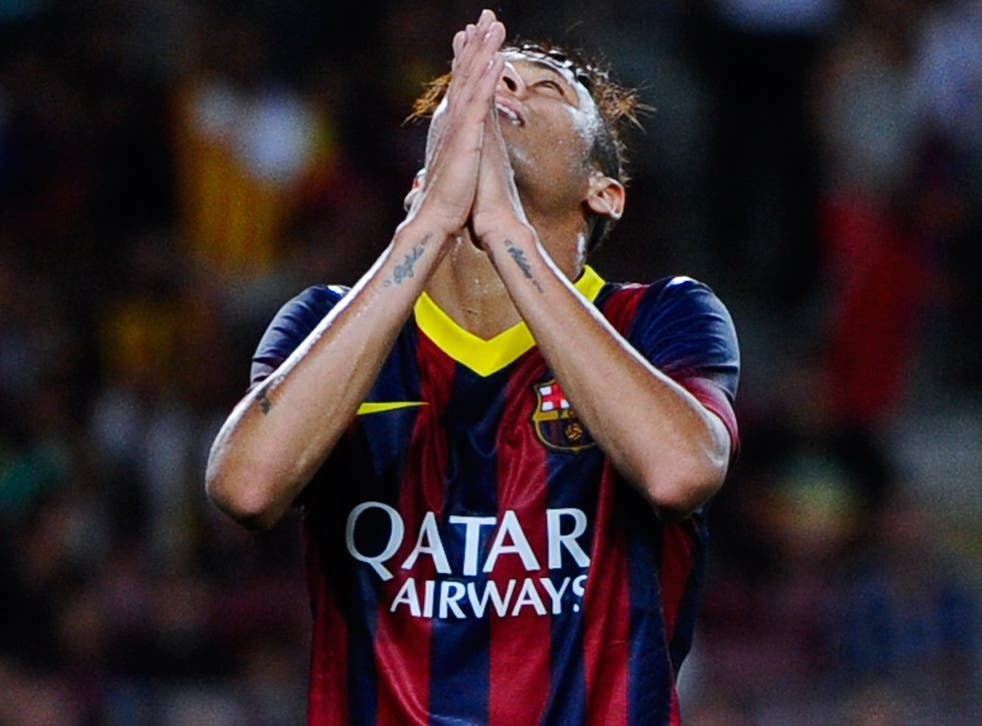 Neymar is still searching for his first goal in Barcelona colours