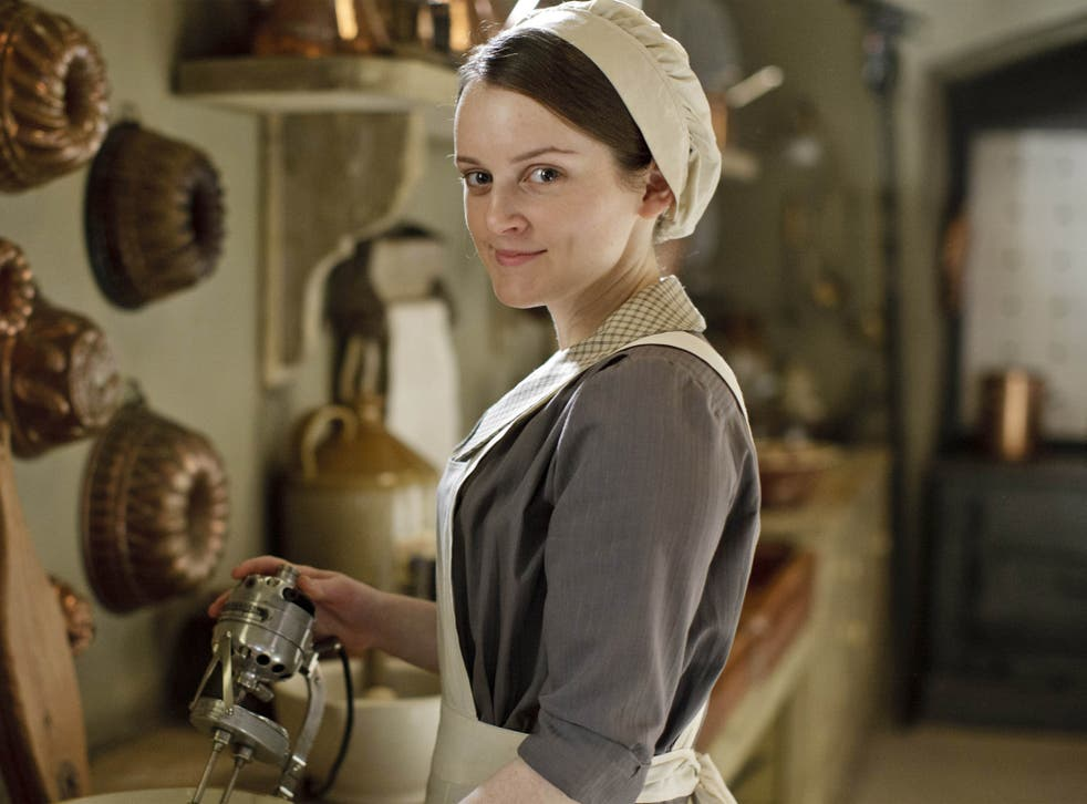 Sophie McShera,as kitchen maid Daisy, enjoys the thrill of the new