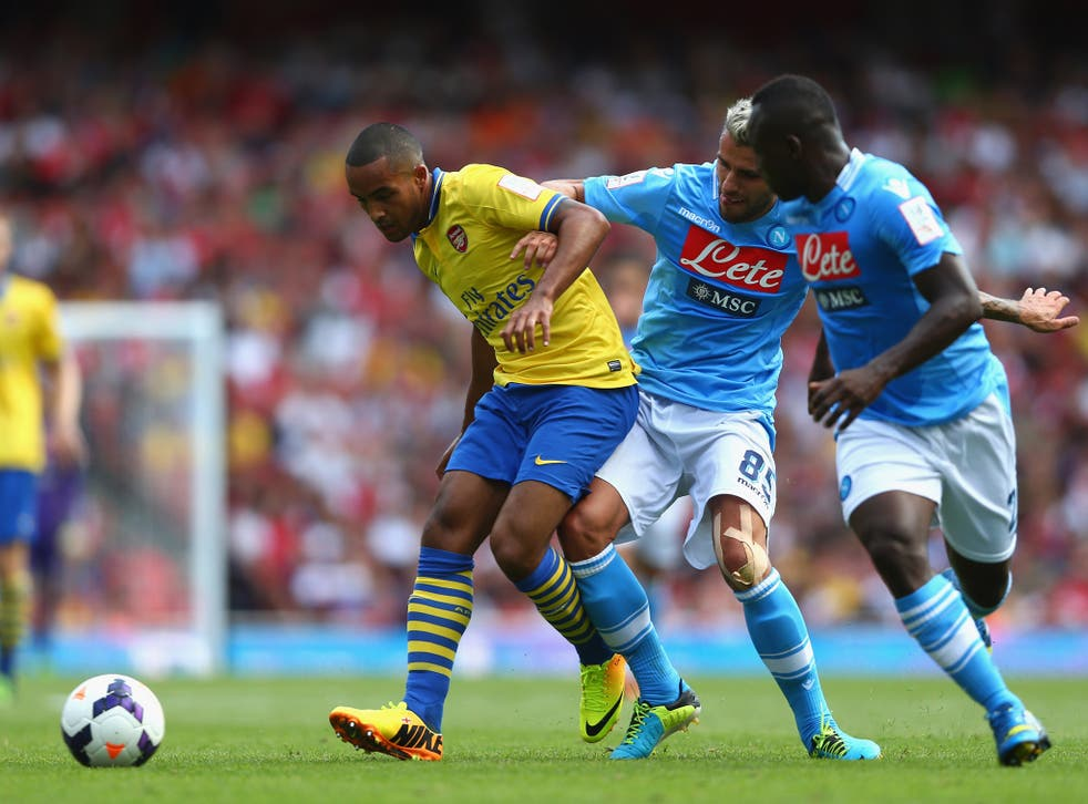 Theo Walcott in Emirates Cup action
