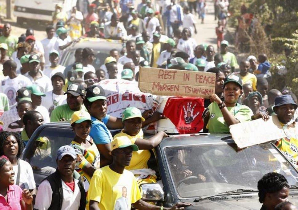 zimbabwe election morgan tsvangirai supporters claim attacks in