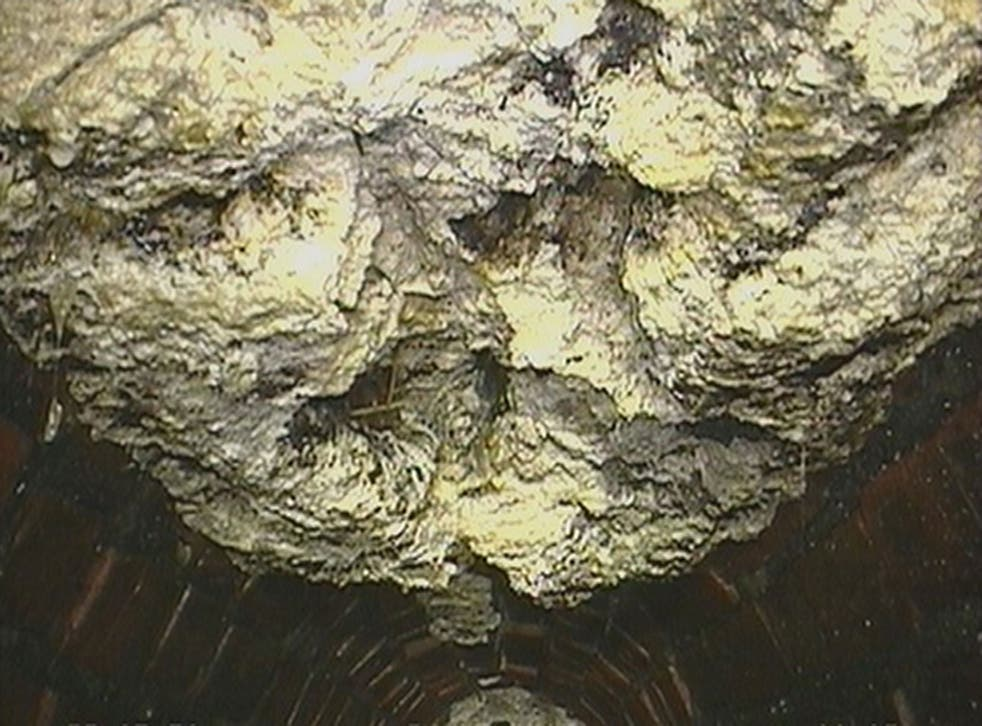 The congealed mushy deposit, dubbed a 'fatberg' by the authority, is thought to be the largest ever found in Britain.