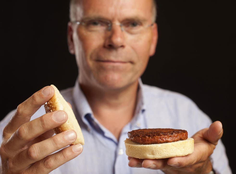 Professor Mark Post of Maastricht University developed a lab-grown meat burger