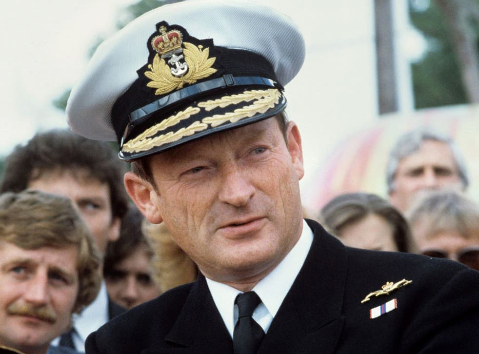 A forthright defender of the Falklands legacy - and a fierce critic of defence cuts: Woodward in 1982