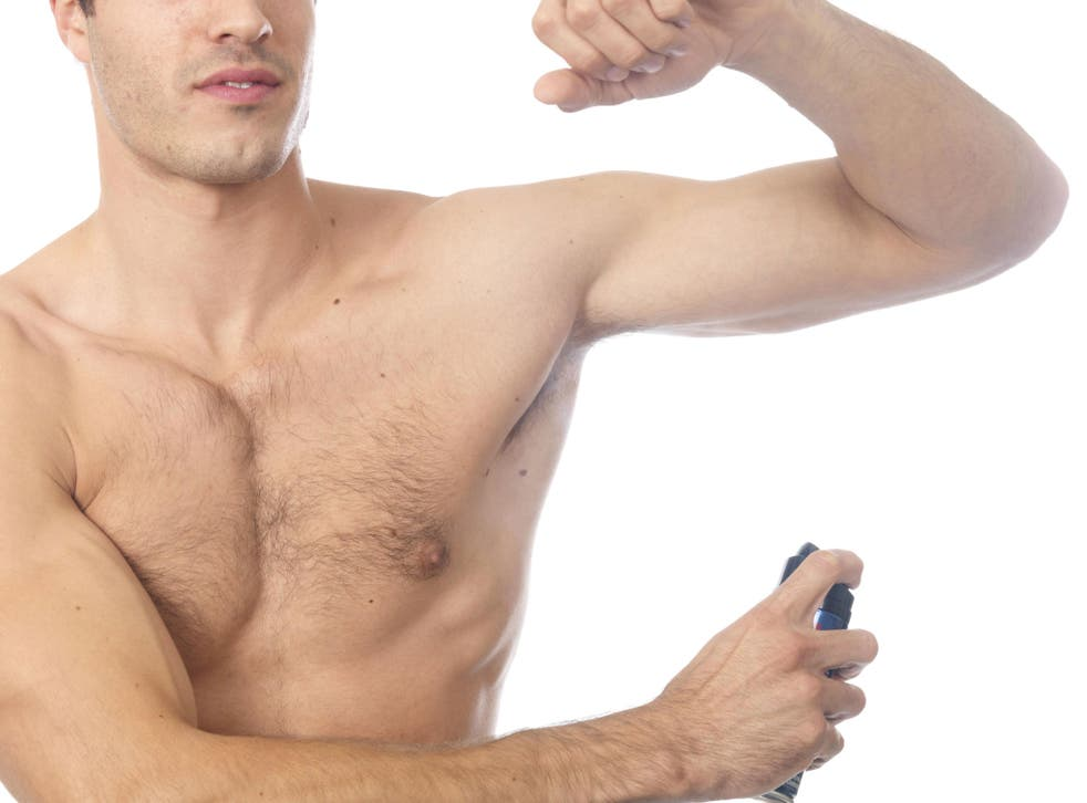 Seven per cent of young men have recently stopped using deodorant
