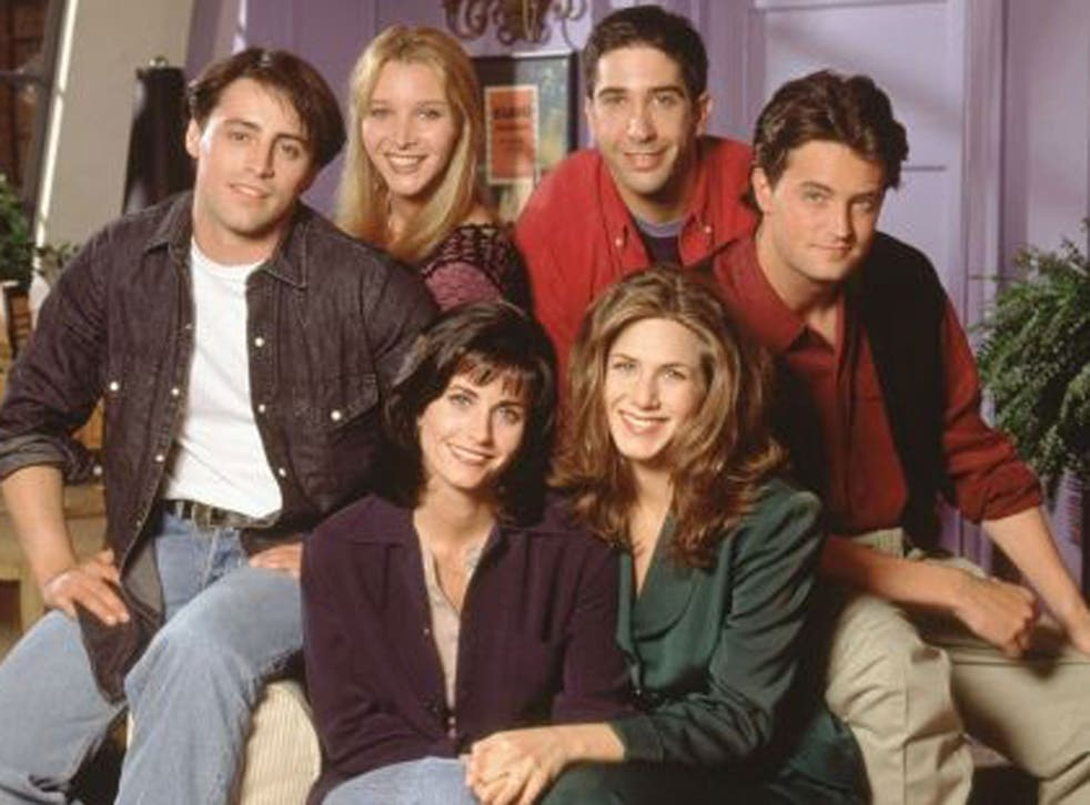 Jennifer Aniston with the cast of 'Friends' (from left, Matt LeBlanc, Lisa Kudrow, Courteney Cox, David Schwimmer and Matthew Perry)