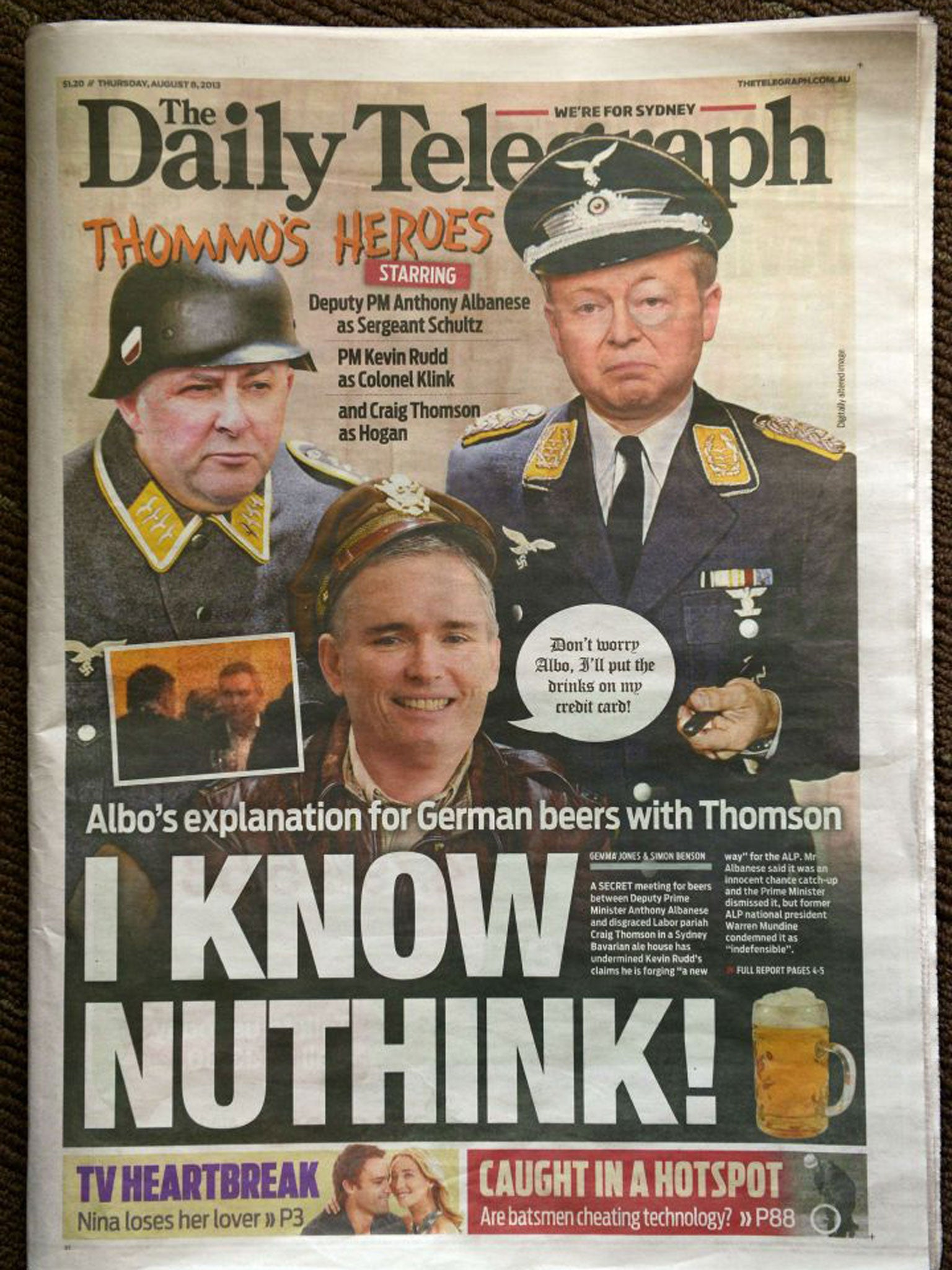 Front-page Nazi slur against PM Kevin Rudd puts Rupert Murdoch centre stage  in Australian election | The Independent