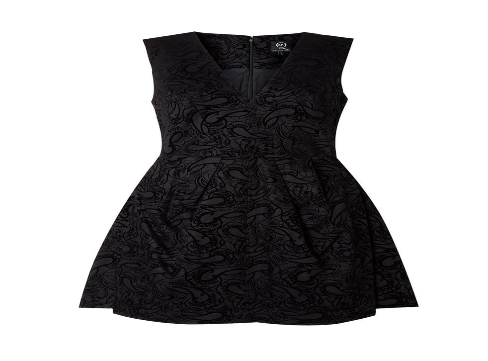 This cocktail dress from McQ Alexander McQueen takes elements of 1970s wallpaper to new heights of chic with its flocked pattern
