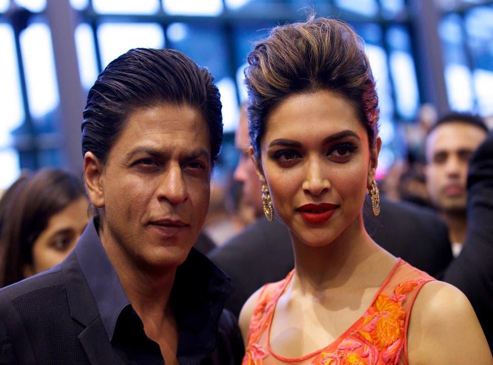 Shah Rukh Khan with his Chennai Express co-star Deepika
