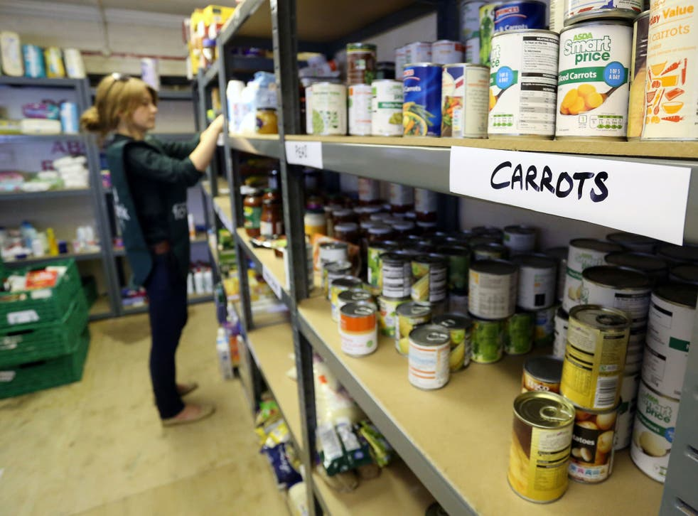 The rise in the cost of groceries has contributed to the rise in people using food banks, such as this one in Poplar