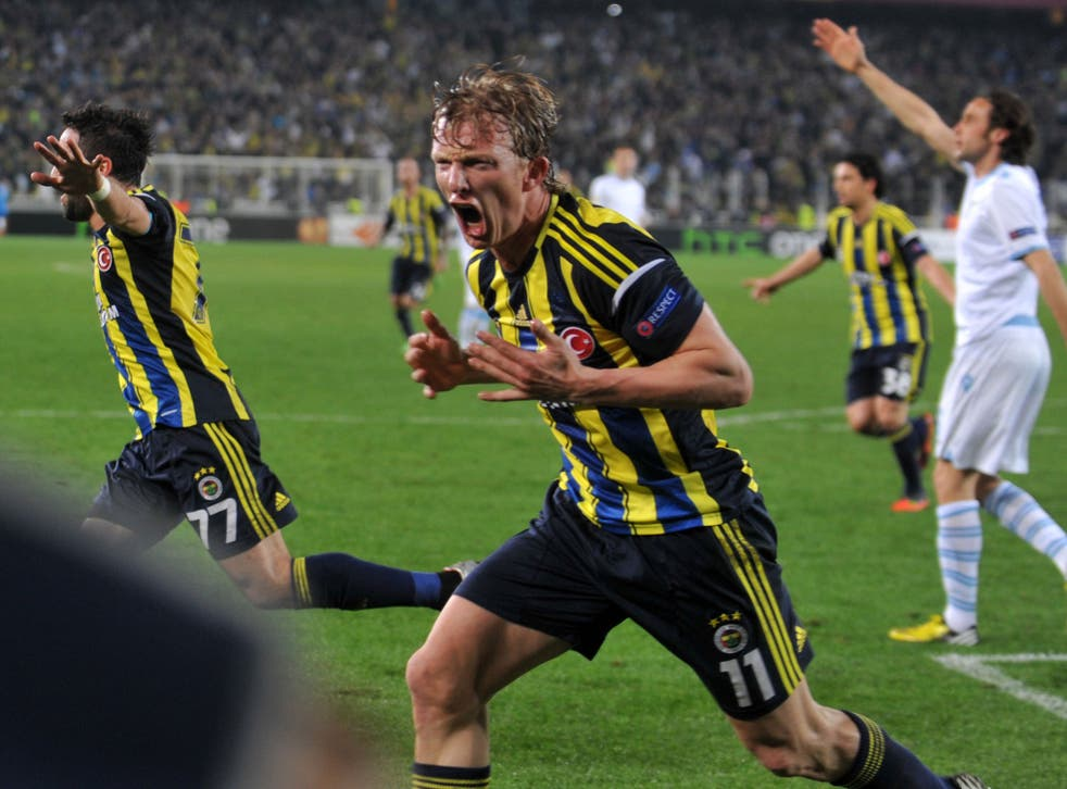 Dirk Kuyt joined Fenerbahce from Liverpool last year
