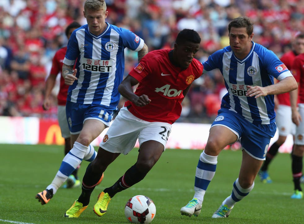 <p>WILFRIED ZAHA:</p> The winger's pace and trickery troubled Wigan as he impressed on a second successive visit to Wembley following May's play-off final win with Crystal Palace. 7