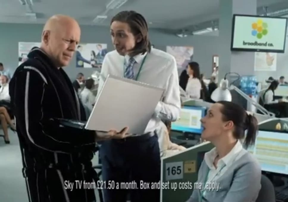 With the banning of Bruce Willis' Sky Broadband advert, we