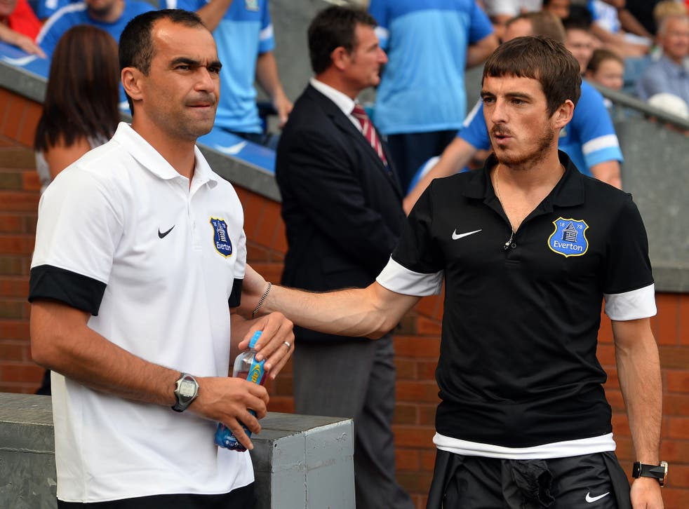 Roberto Martinez is confident Leighton Baines will stay with Everton despite Manchester United interest