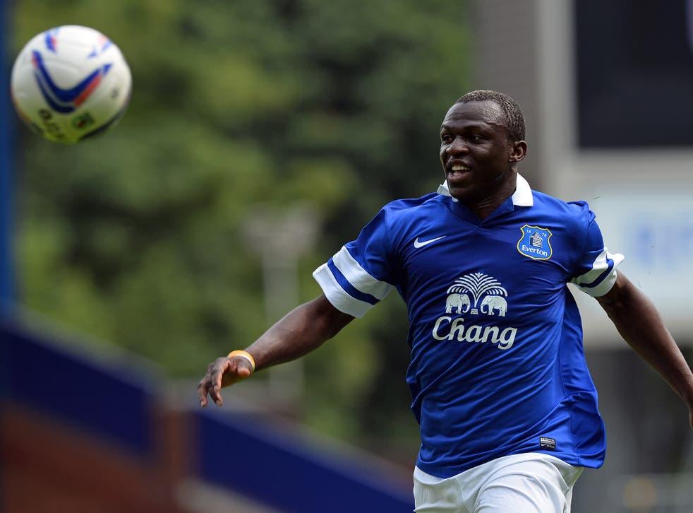 Everton's Arouna Kone