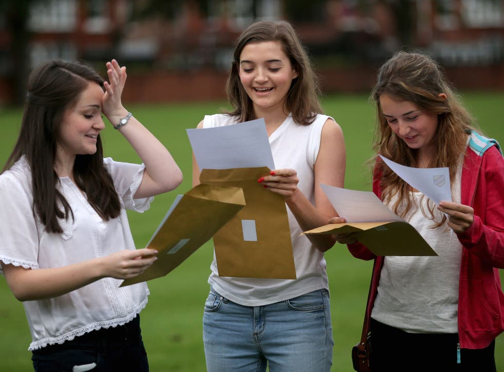 Students such as these three girls, who each achieved four A* passes at A-level, are being targeted with incentives by university admissions departments