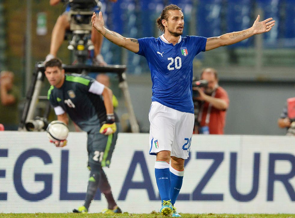 Pablo Osvaldo in action for Italy