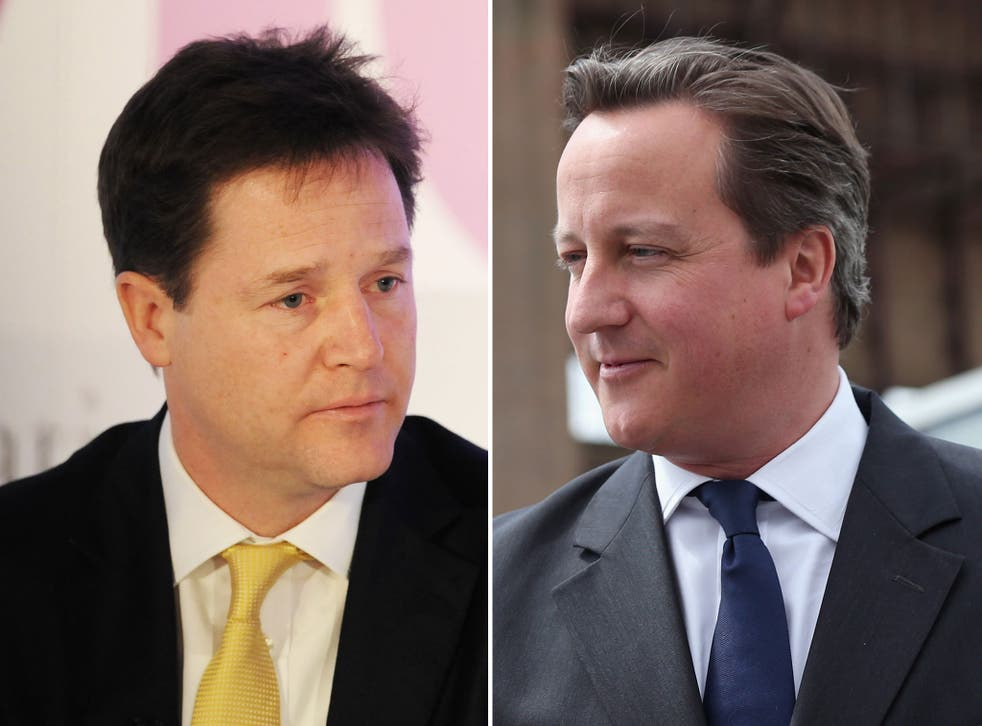 Nick Clegg is being told he would struggle to win support within his party for a new coalition with the Conservatives amid growing hostility to David Cameron