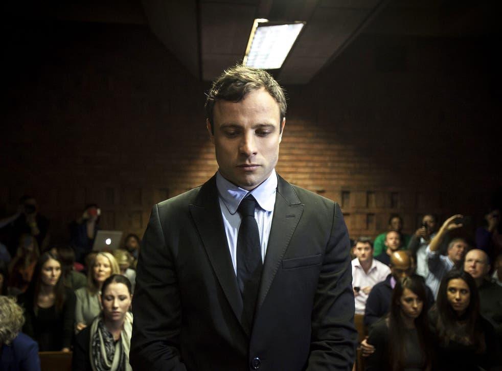 Oscar Pistorius appears in the Pretoria Magistrates court in Pretoria, South Africa