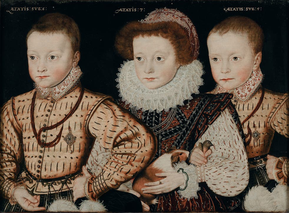 Three unknown Elizabethan children Unknown Anglo-Netherlandish artist, c.1580 Privately Owned