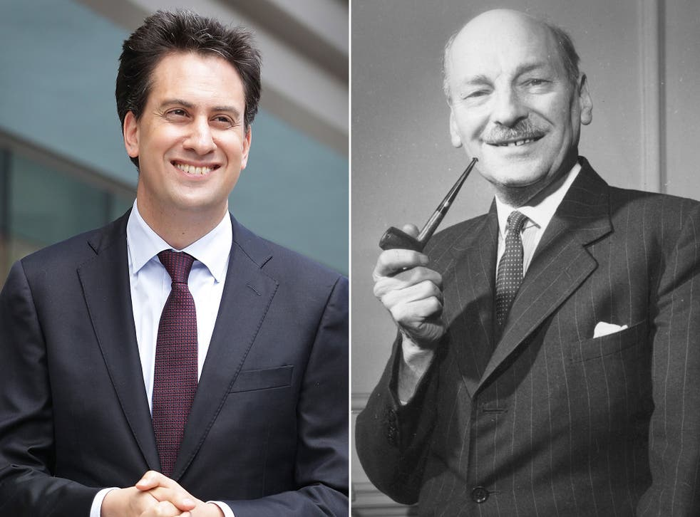 Miliband has been compared to Attlee by Blunkett: 'fantastic leader, not the most vibrant'