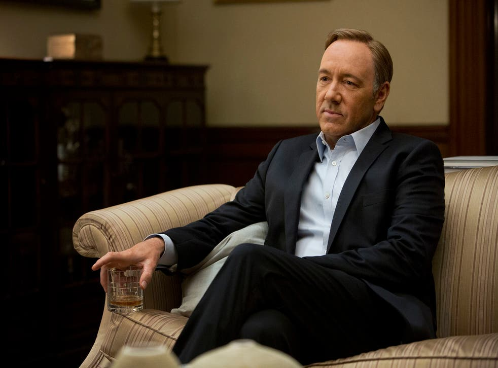 Kevin Spacey in a scene from 'House of Cards'. The 13-episode series was made available on Netflix earlier this year.