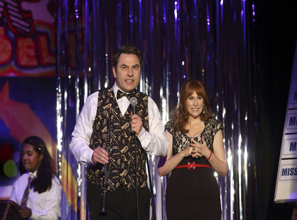 In a class of their own: David Walliams and Catherine Tate in 'Big School'