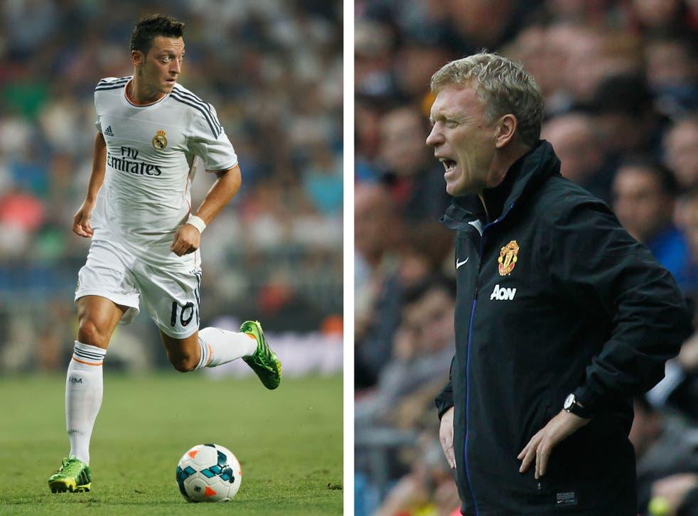Mesut Ozil and David Moyes