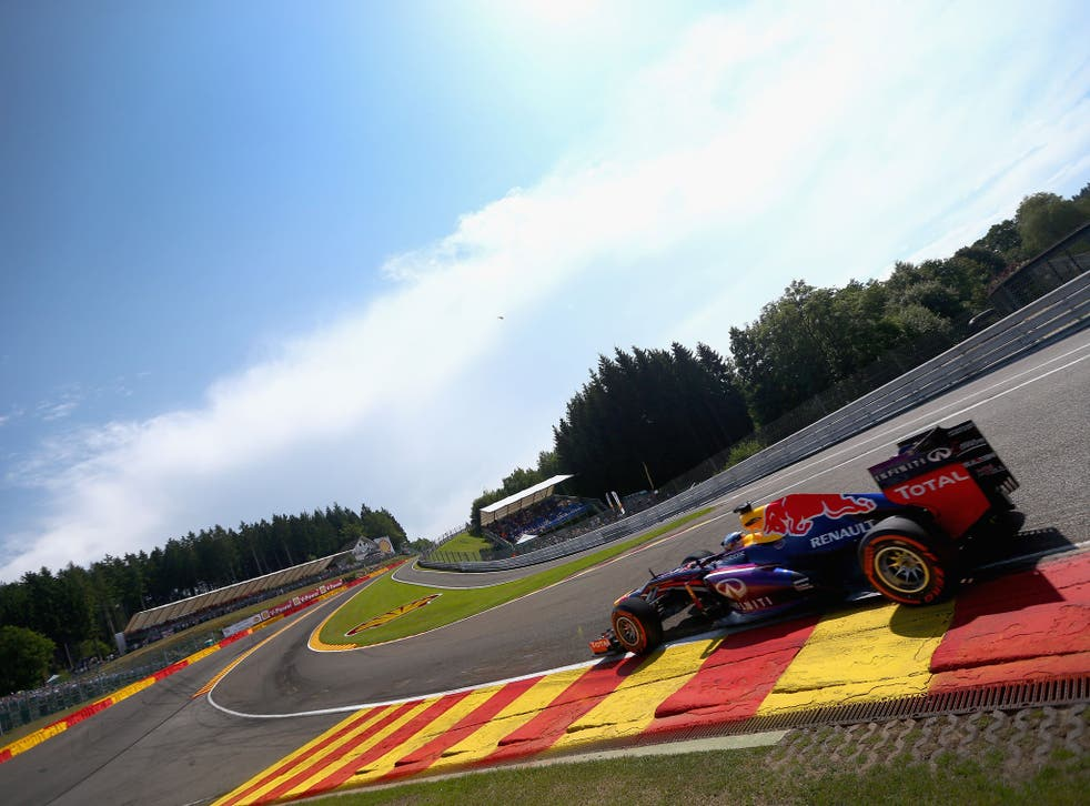 Sebastian Vettel was quickest in practice at Spa-Francorchamps