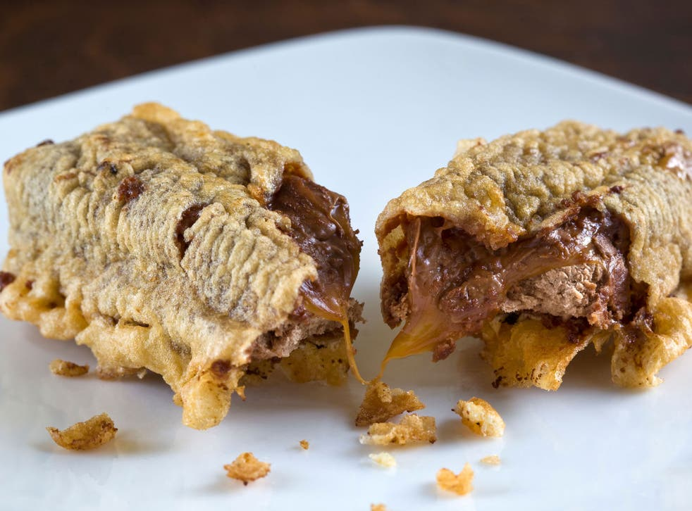 The deep-fried Mars bar was invented in 1995 in Aberdeen
