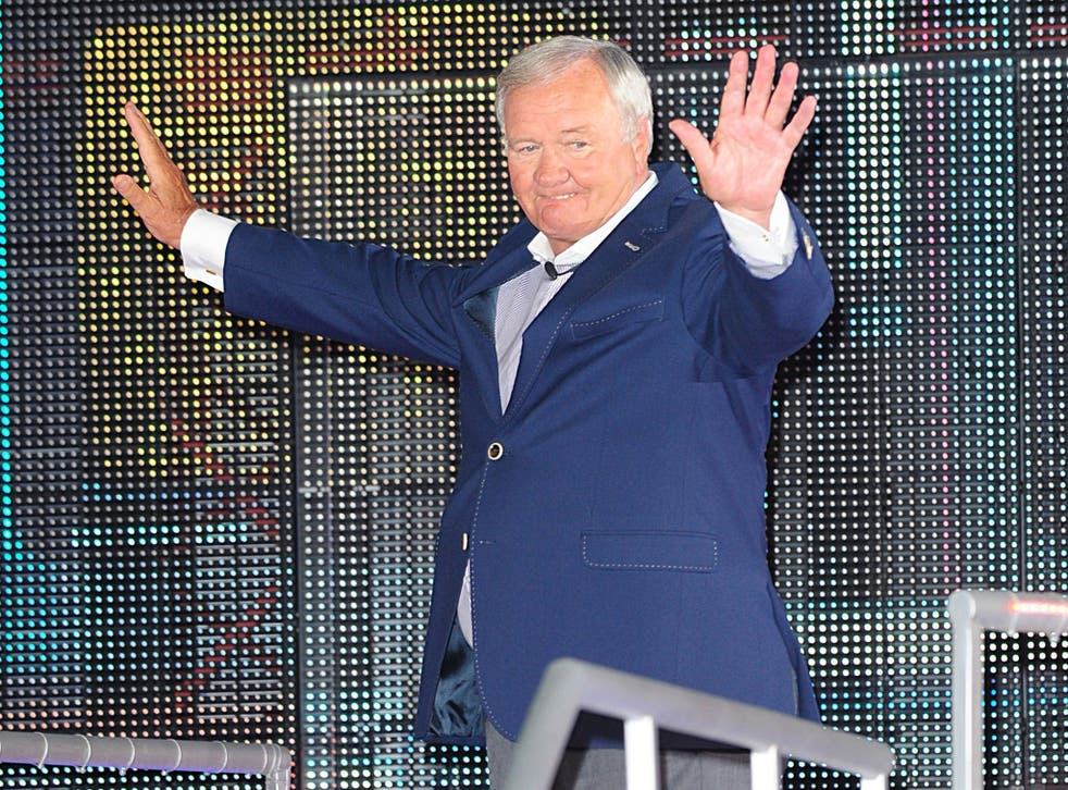 Ron Atkinson entering the Big Brother house
