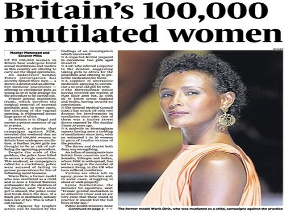The story on female genital mutilation that ran under Mazher Mahmood's byline