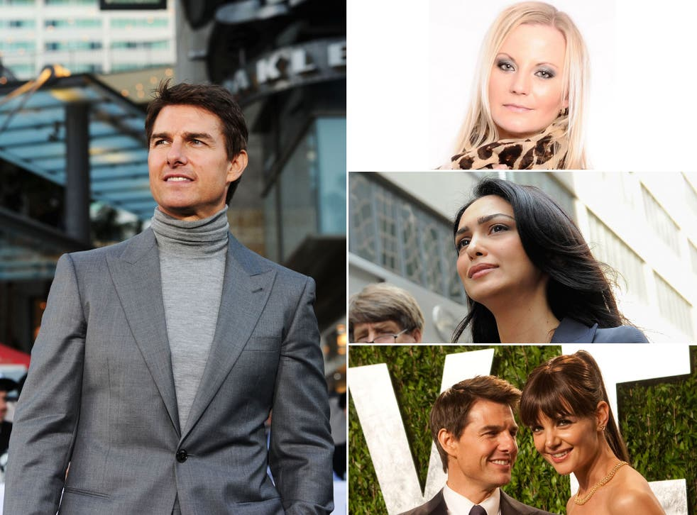 Left, from top: Anette Iren Johansen; the actress Nazanin Boniadi; Tom Cruise with his ex-wife Katie Holmes