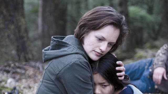 Cold comfort: Elisabeth Moss and Jacqueline Joe in 'Top of the Lake'