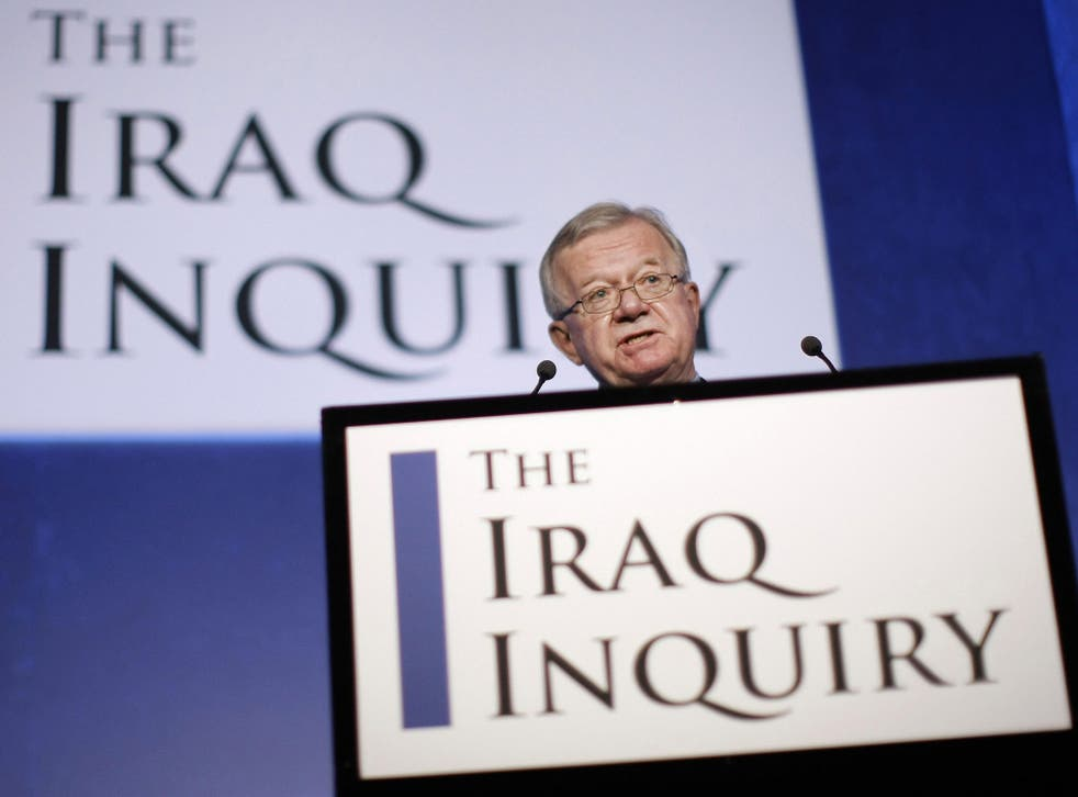Sir John Chilcot opened his  two-year inquiry in 2009