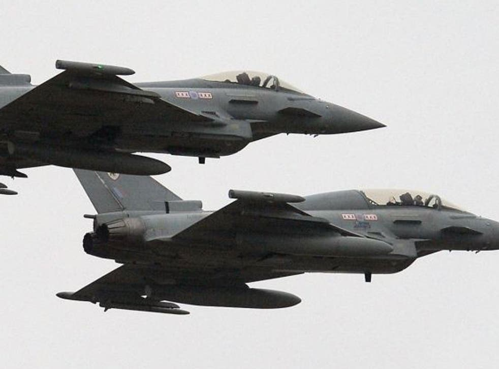 Six RAF Typhoon jets have been deployed to Cyprus to protect British sovereign bases, the Ministry of Defence confirmed today.