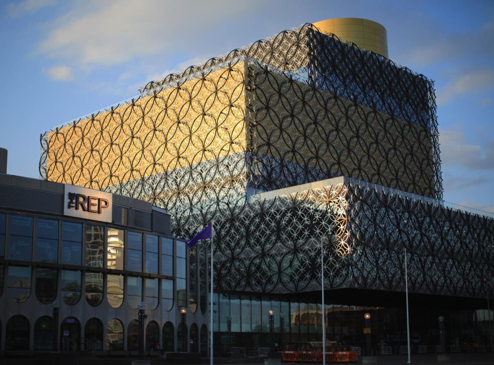 A view of the new Library of Birmingham at Centenary Square