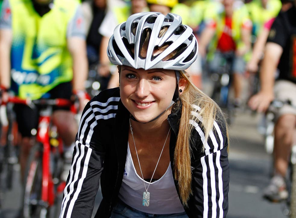 Laura Trott says the importance of wearing a helmet was drummed into her by her parents. She was appointed an ambassador for the Lee Valley VeloPark by the London Mayor, Boris Johnson